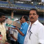 Swachh Bharat Abhiyan reality - cleaning operations ON @ wankhede after swearing in ceremony alongwith @ShelarAshish http://t.co/cJ9er56joC