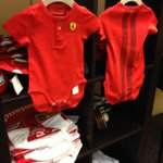 Costume or #F1 gear? Either way, we love these Ferrari onesies (for sale in the Lobby) complete w/ racing stripes! http://t.co/oQKgo89Uxm