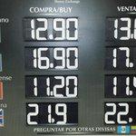 El dolar hoy en @AICM3 12.90 a la compra y 13 a la venta en la mayoria de casas de cambio http://t.co/v9L7Bf0rDi