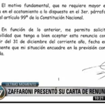[FLASH] #Visión7: Zaffaroni presentó su carta de renuncia -->http://t.co/fnEKkuadQ9 | http://t.co/B1rkObdXyB