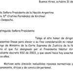 Zaffaroni renunció y usó la letra comic sans para redactar la carta http://t.co/Oka6L1EPRb