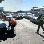 Concepción imagen de la colisión en Avda Los Carrera esquina Castellón 1 lesionado http://t.co/4qkUyUKaxY