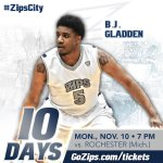 Let the countdown begin! Just 10 days until we open the 2014-15 season vs. Rochester (Mich.) on Nov. 10. #ZipsCity http://t.co/TTY52K5Wve