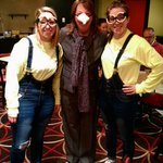 Viterbo Womens basketball coaches sporting some Despicable Me costumes on Halloween! http://t.co/4kfEAMWJ1Q