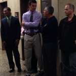 Aquinas Quarterback Jake Zembiec is here for the Aquinas/Section V hearing. He is at the center of the issue. @News_8 http://t.co/C1VsCtHSVI