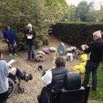Ontroerende kleine plechtigheid voor de overleden straatmensen, monument Jonkerbos, Nijmegen. @KruispuntNijmeg http://t.co/WMCiZY1Vft
