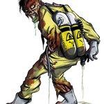 Passend zu Halloween ein Zombie von mir! Wer ihn noch nicht kennt: Dies ist CLARK für @Totenstadt_game :-) http://t.co/7kSGMkkcah