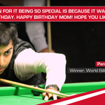 RT @MahindraRise: 12th World title.Whopping score,a mother's birthday gift.Pankaj Advani,you do the nation proud http://t.co/KW5rSDvRTl htt…