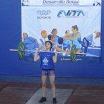#Deportes // La 1ra medalla de #Corrientes en Juegos Evita: Azul Monzón en levantamiento olímpico, quedó 2ª en 50 kg. http://t.co/yBkMC8w8UJ