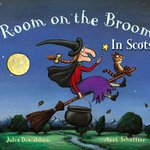 """Happy Halloween #giveaway! 2 copies of mighty scary """"Room on the Broom in Scots"""" up for grabs – RT by 5pm to enter. http://t.co/2eJXatexYn"""