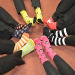 #wrexham having fun in silly socks! Rounding #Socktober month off for @NightingaleHH Thanks for all our sock support http://t.co/Drd6afNdt4