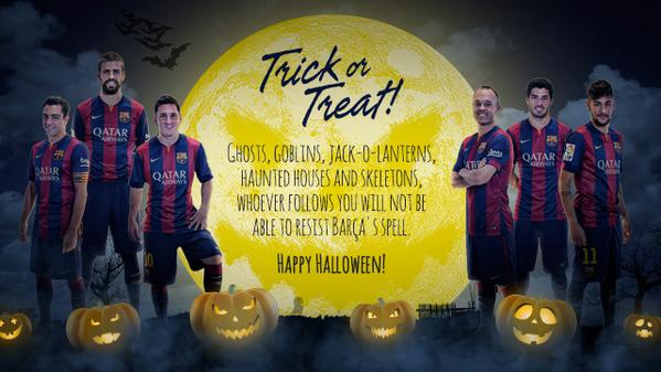 fc barcelona wishes a happy halloween to all its fans in australia http