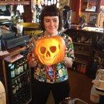 Our Bridget carves a pretty sweet pumpkin. #Halloween #Brighton http://t.co/mSwKQlVW7J