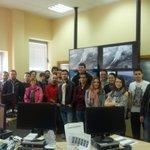 Hoxe visitounos un grupo de estudiantes da Facultade de Historia de Ourense. Gracias pola vosa atención e interese. http://t.co/ifCE1NlIZO