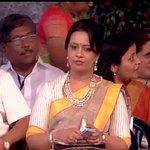 Mumbai: Amruta Fadnavis, wife of Devendra Fadnavis at Wankhede Stadium http://t.co/FMkh6zO1or
