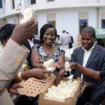 @KCCAUG today (31.10.2014) distributed 5400 chicks and feeds to 250 farmers in Makindye Division. @KCCAED http://t.co/m6W01Wd1yy