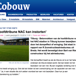 Hoofdtribune NAC-stadion in Tilburg kan instorten via @bgotink #breda # #NACpraat http://t.co/rfaNuFn2zF