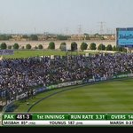 OK the ground is seriously packed now. Great to see. #PAKvAUS http://t.co/AX9bVFCW7y http://t.co/f2kikmU80W