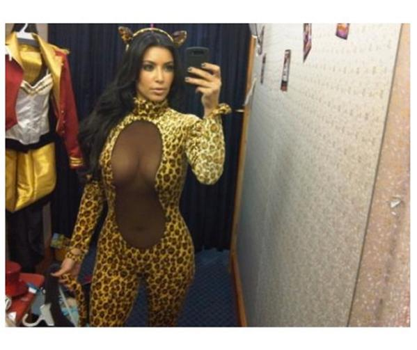Hmm. We wonder what Kim Kardashian's dressing up as for Halloween this year...?