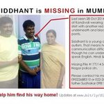 SOS! Siddhant, young teen with autism is missing in Mumbai. Call  09819340656