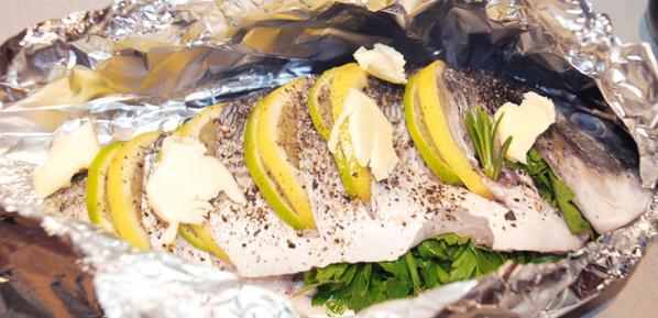 Дорадо в духовке в фольге с лимоном рецепт с пошагово