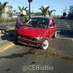 Concepción [Fotos] Choque de automóvil con Barrera, Sin Lesionados. En Paicavi/Manuel Rodríguez. #cat8 http://t.co/NbzAFhK2Mu