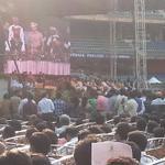 Attending Oath Taking Ceremony at Wankhede Stadium, Mumbai. http://t.co/j2mZ8iZtI2