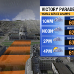 Worst fears coming to fruition...heavy rain & thunder likely during early World Series Victory Parade. #SFGiants http://t.co/7xNvhisE5E