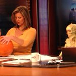 Lincoln lost some weight carving pumpkins today #liveonk2 http://t.co/xTN2fUMnCo