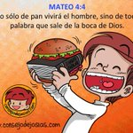"""""""No sólo de pan vive el hombre, sino de toda palabra que sale de la boca de Dios"""" Buen consejo para un #FelizViernes http://t.co/nTgIhTA8UQ"""