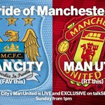 #MCFC v #MUFC is LIVE and EXCLUSIVE on talkSPORT, Sunday 1pm – http://t.co/JB4msfrJaY – The Pride of Manchester is... http://t.co/EHkkTuty7n