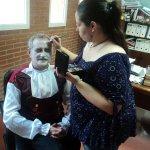 Nuestro Director de la #Biblioteca #UCLM en #Albacete Ángel Aguilar, se ha convertido en Drácula para #Haloween ???? http://t.co/3oe8SkmxKV