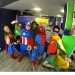 El equipo del mañanero disfrazado!!!   #Halloweeneslamega   @djShirry @julianacasali @santiagocorreal @_DAVIDZORRO http://t.co/7B1mek5Cmy
