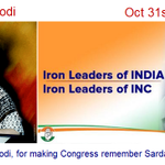 """Thank you Narendra Modi, for making Congress party remember """"their own"""" #SardarPatel on October 31st ;) http://t.co/UweEZWA2Yo"""