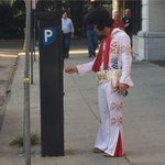 Elvis shouldnt have to pay for parking!! #Savannah #WTOCHalloween http://t.co/0mi3DnKgNs