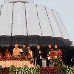PM Shri @narendramodi at the swearing-in Ceremony of Shri @Dev_Fadnavis as the Chief Minister of Maharashtra http://t.co/eFwOE6OpCx