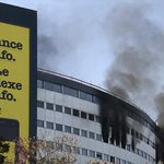 Fire breaks out at iconic French radio building http://t.co/4ljtlUpTy3