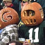 #Packers fans at Lambeau Field during game vs. 49ers on 11/1/1998, day after #Halloween. (HS jersey at right, BTW) http://t.co/5bUpHi9q3u