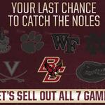 #Noles fans help us make history at Doak and sell out the entire season for the 1st time ever http://t.co/B8T5Vd0M4f http://t.co/TtDB2TH1gE