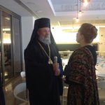 Archbishop Chrysostomos II of #Cyprus meets @CeciliaWikstrom Chair of @EP_Petitions #WikstromCY #Cyprus http://t.co/hDvoGRJQBW