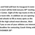 January 30th A-state will host the High School Team Challenge... Contact us for more information http://t.co/iRWbUo6ODl