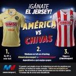 CLÁSICO DE CLÁSICOS: ¡Gánate el jersey de @CF_America o @Chivas con @innovasport! http://t.co/aXgRUX2G1S