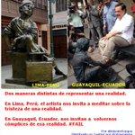 """???? Guayaquil y Lima. El arte y sus formas de representar una realidad. Sobre """"el betunero"""" y el alcalde Jaime Nebot. http://t.co/WwbZPJk8JV"""