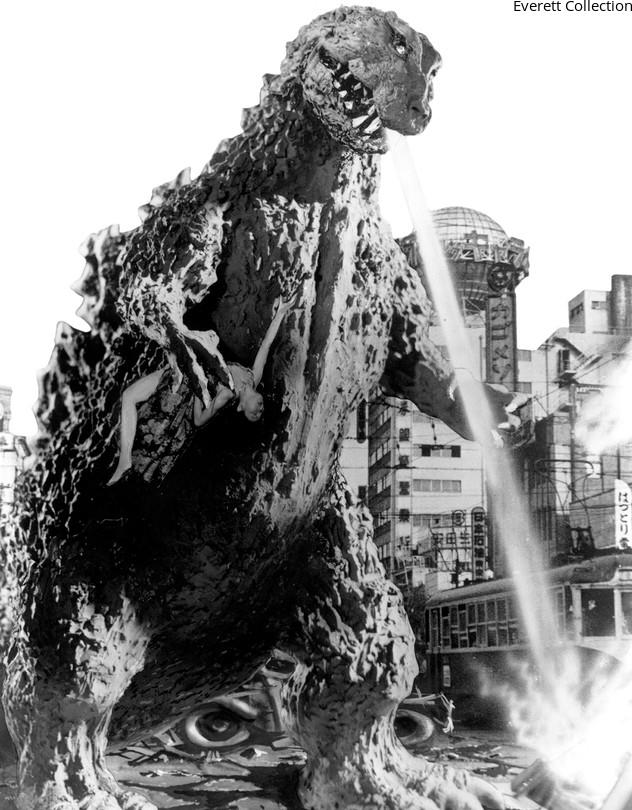 the original godzilla suit was made from bamboo  rubber  paper  wire and other materials