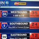 Drive times #pdxtraffic #koin6news http://t.co/T9jM1lFsBU