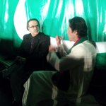 chairman PTI @ImranKhanPTI giving interview to @Shahidmasooddr right now at #AzadiSquare http://t.co/z6jDGYO6p3