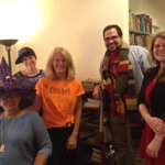 A witch, the universe, the Doctor, and the devil walk into a literary agency... Happy Halloween, everyone! http://t.co/cdYQGbDTu4