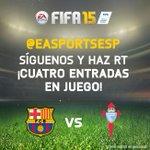 Síguenos y haz RT para poder ganar dos entradas para el @FCBarcelona_es vs @rccelta_oficial.Cuatro entradas en juego! http://t.co/sed7730y5c