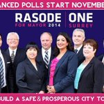 Advanced Polls begin Nov 1st.  Exercise your right to vote. Vote for change - Vote for #OneSurrey @BarinderRasode http://t.co/TLb0nZk28X