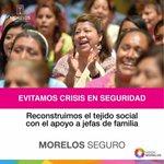 Con tu apoyo aumentamos inversión social en oportunidades de empleos, reconstruimos el tejido social. #MorelosSeguro http://t.co/YQvS3ROumC